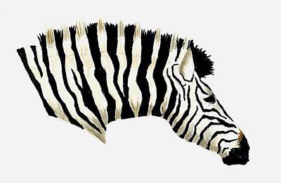 Zebra Painting - Zebra by Michael Vigliotti