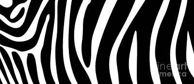 Zebra Drawing - Zebra Skin Mug by Edward Fielding