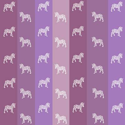 Zebra Mixed Media - Zebra Stripes Pattern by Christina Rollo