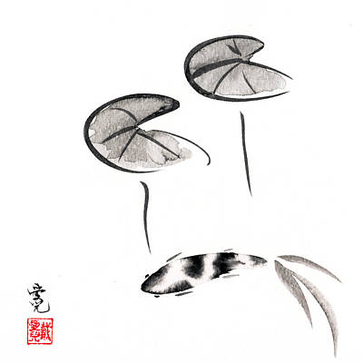 Zen Fish Painting Print by Oiyee At Oystudio