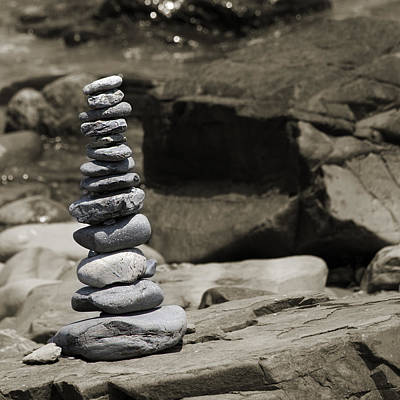 Zen Power Tower Print by Betsy Knapp