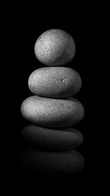 Mystic Setting Photograph - Zen Stones In The Dark II by Marco Oliveira