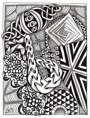 American Sign Language Drawing - Zentangle Art I Hand by Martha Cuzzolino