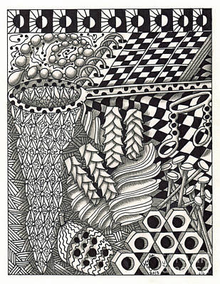 American Sign Language Drawing - Zentangle Art N Hand by Martha Cuzzolino