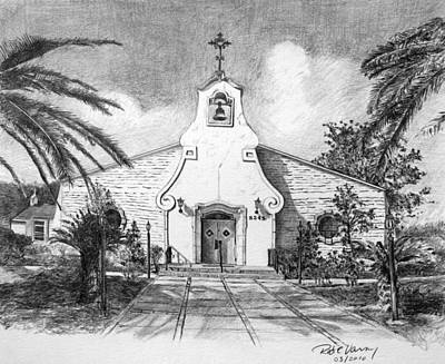Zephyrhills Catholic Church Print by Rod Varney