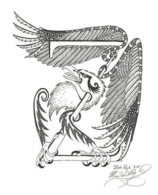 Zeta Eagle Print by Melinda Dare Benfield