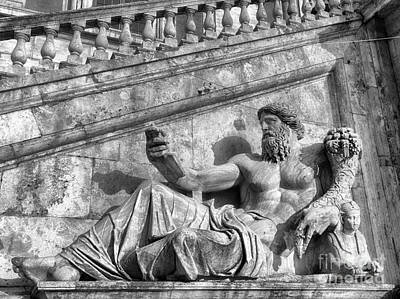 Capitoline Photograph - Zeus Black And White by Stefano Senise