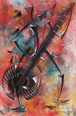 Painting - Zeze Instrument by Abu Artist