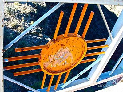 Zia Sun Symbol Rio Grande Gorge Bridge Original by Chuck Taylor