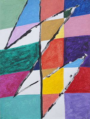 Abstract Shapes Painting - Zig Zag by Stormm Bradshaw