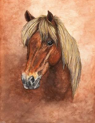Shetland Pony Painting - Ziggy by Kristen Wesch