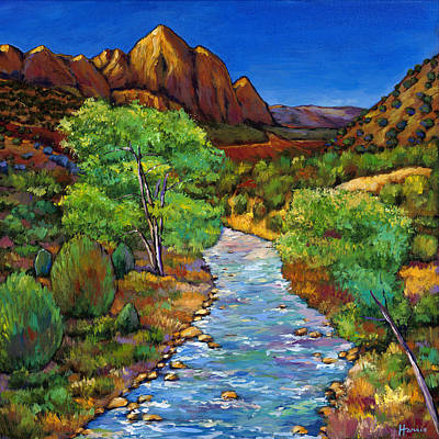 Mountain Valley Painting - Zion by Johnathan Harris