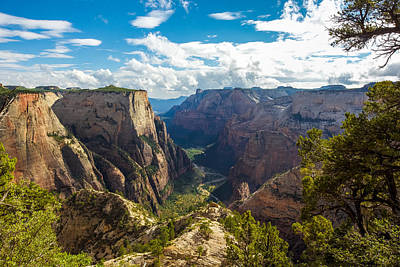 Zion National Park Photograph - Zion Valley by Cole Pattschull