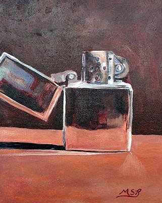 Painting - Zippo-light My Fire  by Maria Soto Robbins