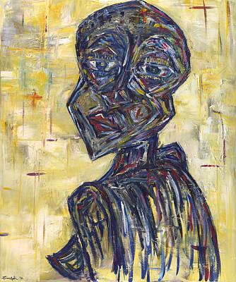 Painting - Ziva Kwaunobva Remember Where You Are From by Chakanaka Zinyemba