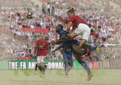 Wayne Rooney Digital Art - Zlatan Ibrahimovic Header by Don Kuing
