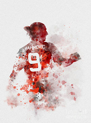 Soccer Mixed Media - Zlatan Time by Rebecca Jenkins