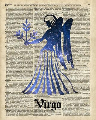 Zodiac Digital Art - Zodiac Sign Virgo Maiden by Jacob Kuch