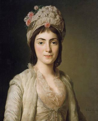 Zoie Ghika, Moldavian Princess Print by Alexander Roslin