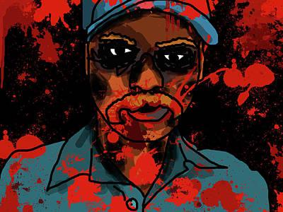 Apocalyptic Digital Art - Zombie Portrait by Jera Sky