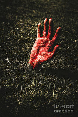 Infection Photograph - Zombie Rising From A Shallow Grave by Jorgo Photography - Wall Art Gallery
