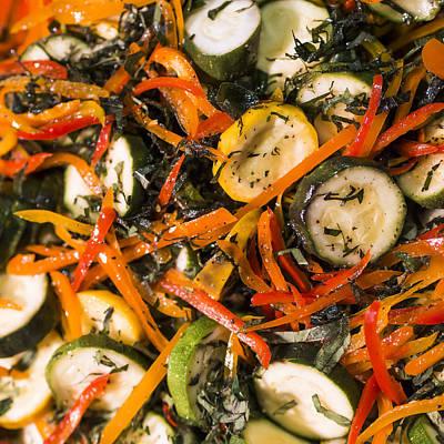Zucchini Salad Print by Steven Ralser