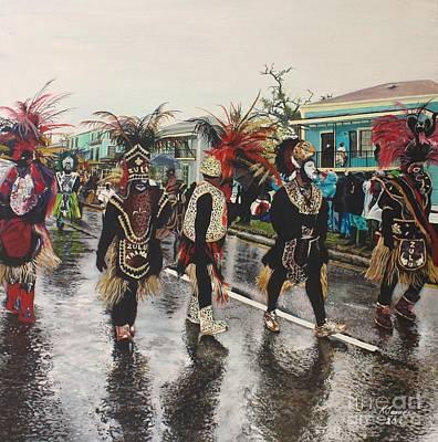 Mardi Gras Painting - Zulu by Kelvin James