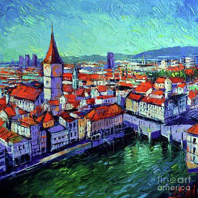 Zurich View Original by Mona Edulesco