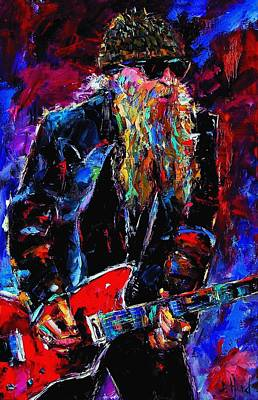 Zz Top Billie Gibbons Print by Debra Hurd