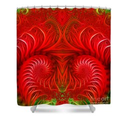 Abstract Background  Shower Curtain by Odon Czintos