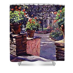 Bel-air Gardens Shower Curtain by David Lloyd Glover