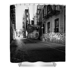 Chinatown New York City - Mechanics Alley Shower Curtain by Gary Heller