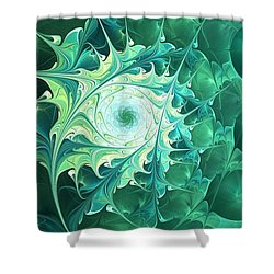 Green Magic Shower Curtain by Anastasiya Malakhova