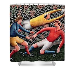 It's A Great Save Shower Curtain by Jerzy Marek