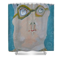 John's Dad Seeing Babies Born Shower Curtain by Nancy Mauerman