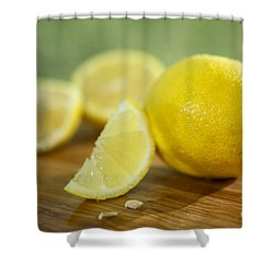 Lemon Citrus Limon Zitronen Shower Curtain by Iris Richardson