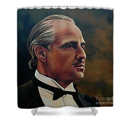Marlon Brando Shower Curtain by Paul Meijering