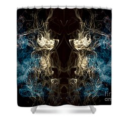 Minotaur Smoke Abstract Shower Curtain by Edward Fielding