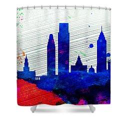 Philadelphia City Skyline Shower Curtain by Naxart Studio
