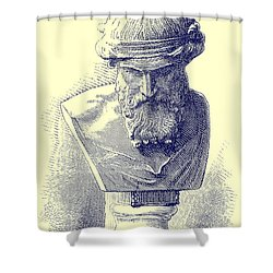 Plato Shower Curtain by Chapuis