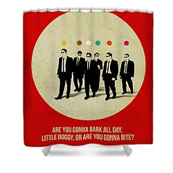 Reservoir Dogs Poster Shower Curtain by Naxart Studio