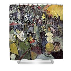 The Arena At Arles Shower Curtain by Vincent van Gogh