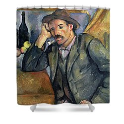 The Smoker Shower Curtain by Paul Cezanne