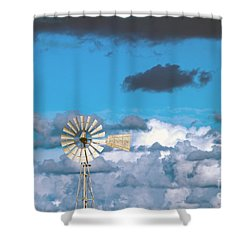 Water Windmill Shower Curtain by Stelios Kleanthous