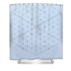 Why Energy Equals Mass Times The Speed Of Light Squared Shower Curtain by Jason Padgett