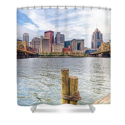 0310 Pittsburgh 3 Shower Curtain by Steve Sturgill