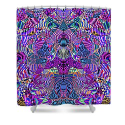 0476 Abstract Thought Shower Curtain by Chowdary V Arikatla