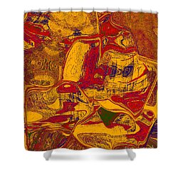 0518 Abstract Thought Shower Curtain by Chowdary V Arikatla