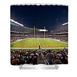 0588 Soldier Field Chicago Shower Curtain by Steve Sturgill