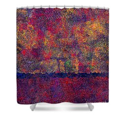 0799 Abstract Thought Shower Curtain by Chowdary V Arikatla